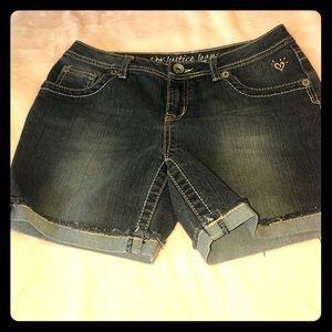 Girls size 16R Justice Jean shorts